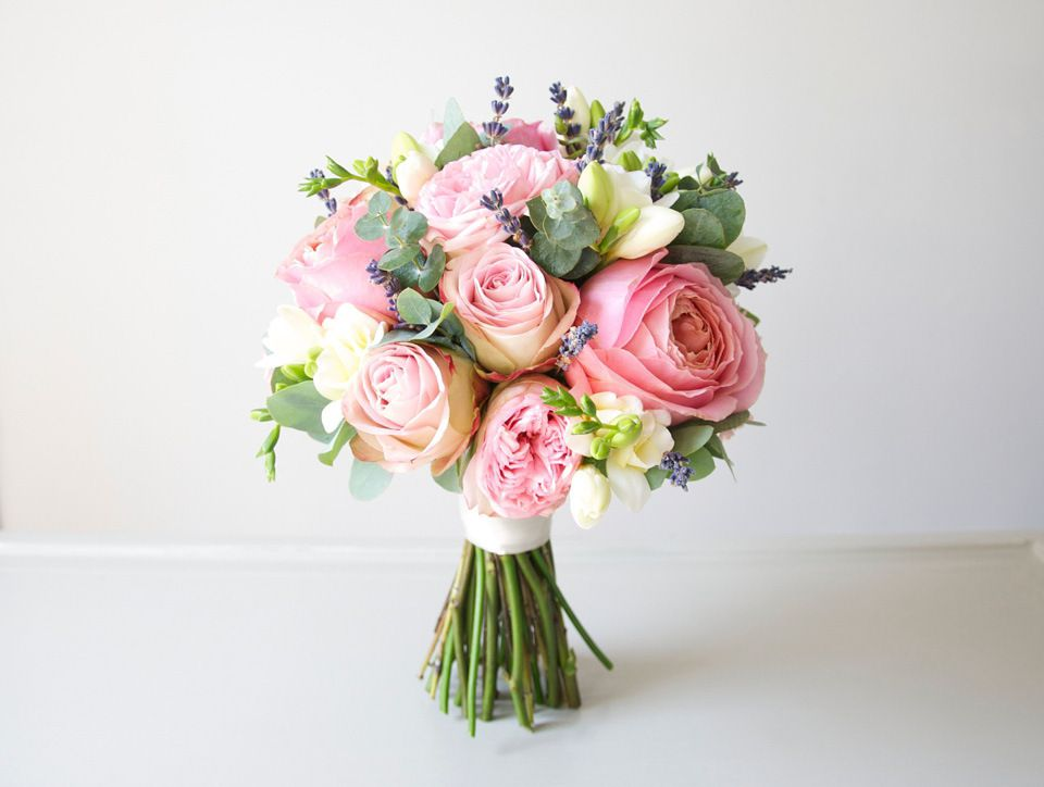 Spring 2015 Flower Trends   Pink Rose Bouquet With Lavender | Love My  Dress® UK