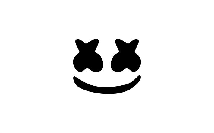 Download Wallpapers Dj Marshmello Minimalism Logo Emblem Hat Besthqwallpapers Com Funny Iphone Wallpaper Dj Logo Dj Art