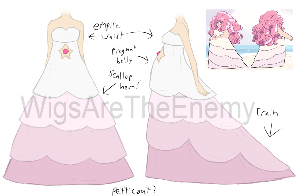 Rose Quartz Steven Universe Hair Template: I Really Want To Cosplay Rose Quartz So I Drew Out How I
