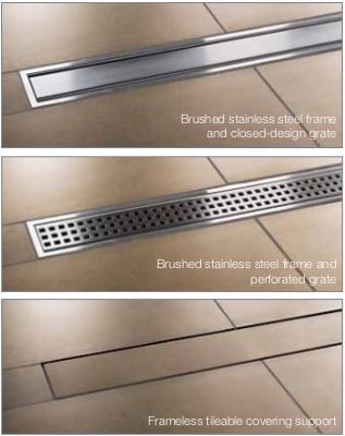 Schluter Kerdi Line Linear Drain Offset All Grates Shower
