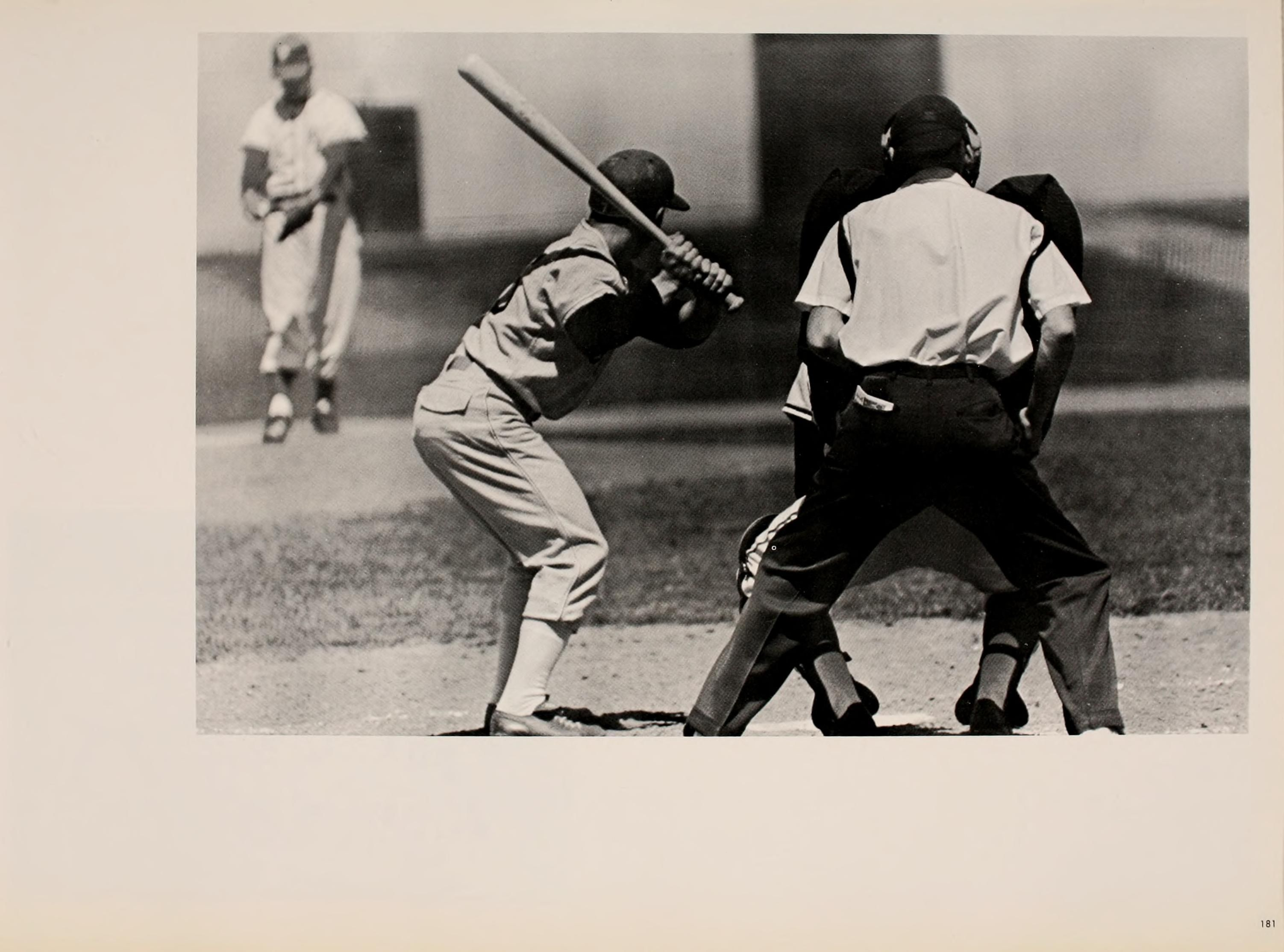 Athena Yearbook 1964 Men S Baseball Batter Shown From Behind The
