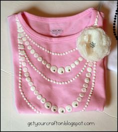 DIY Onesie with painted on necklaces... make this for Miss Avery for her birthday