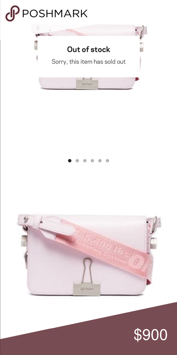 a54fb9ba701d Off-White Pink Mini Binder Clip Bag. Brand new   💯Authentic Sold out  everywhere. Price may be negotiated elsewhere  ) Off-White Bags Mini Bags