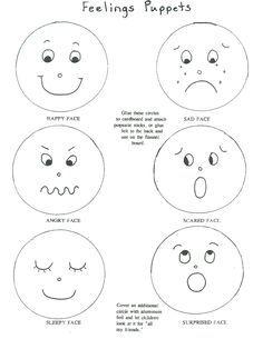 happy face feelings story paper bag puppets emotions preschool emotion faces emotions. Black Bedroom Furniture Sets. Home Design Ideas
