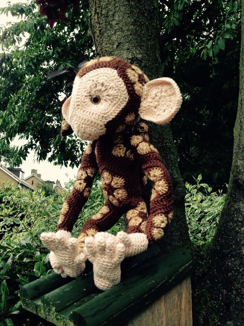 African flower monkey jippie | Amigurumis | Pinterest | kostenlose ...