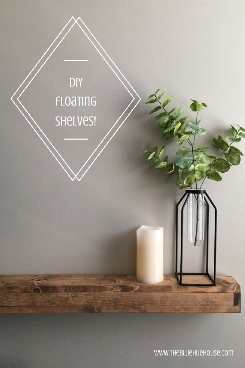 DIY floating shelves fixer upper style!