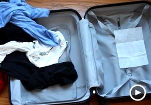 Make vacation even better with these smart & simple packing tips Video: Packing might be the worst part of going on vacation, but a few changes can make it a lot better.Image: Video still of dryer sheet in suitcase (© BuzzFeed)