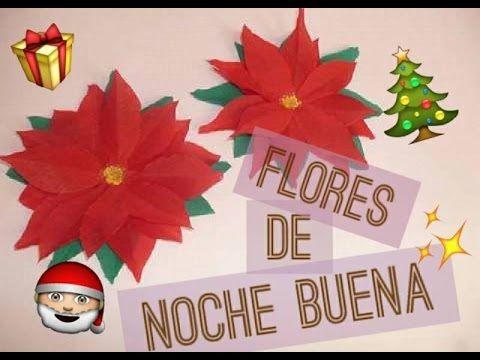 nochebuena navidad decoracion navidea goma eva hacer fiestas flores guirnaldas de navidad