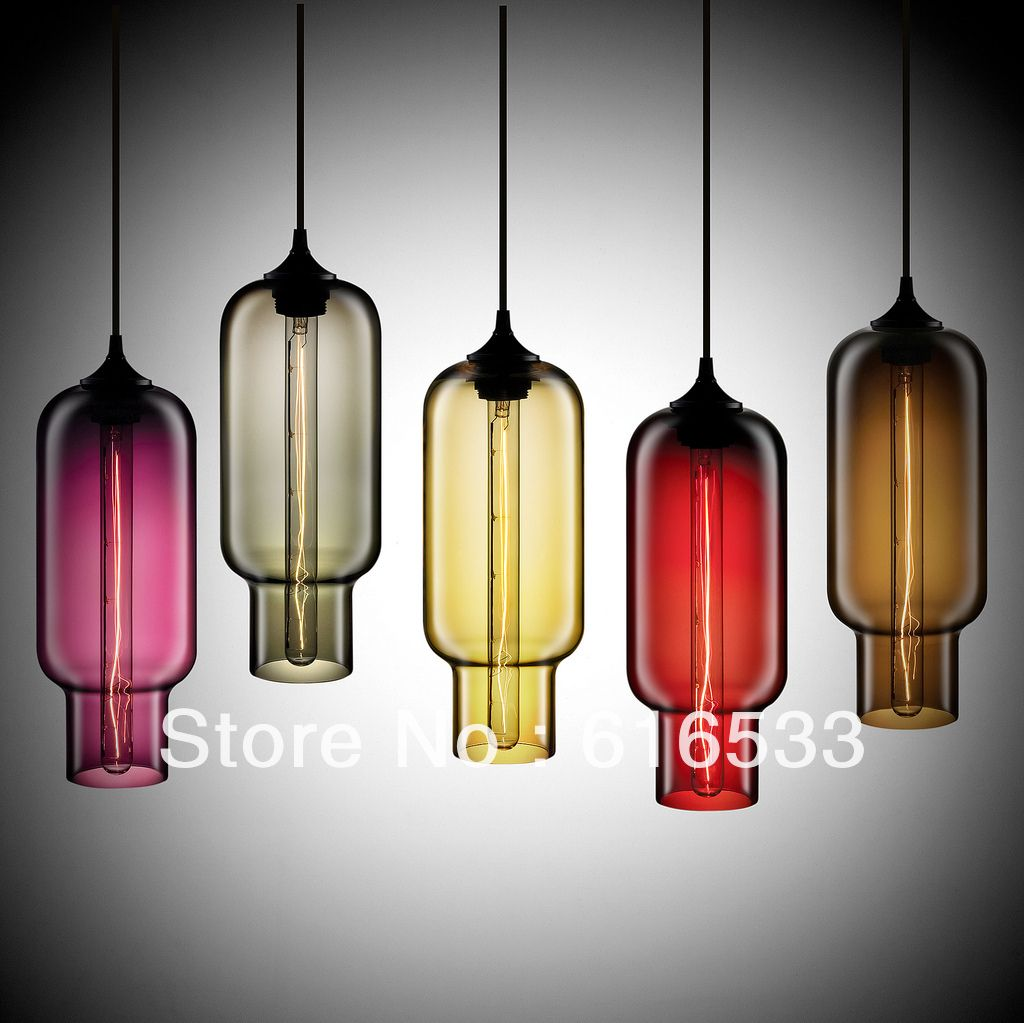 New 2014 Vintage american style glass pendant light multicolor fashion modern bar counter lamps d8060 US $62.88