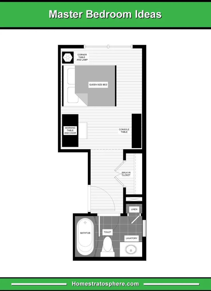Best Long And Narrow Master Bedroom Layout With Small Home 640 x 480