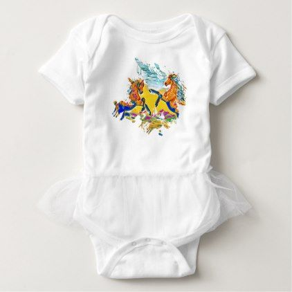 Two wild horses in the winds baby bodysuit birthday gifts party two wild horses in the winds baby bodysuit birthday gifts party celebration custom gift ideas negle Images