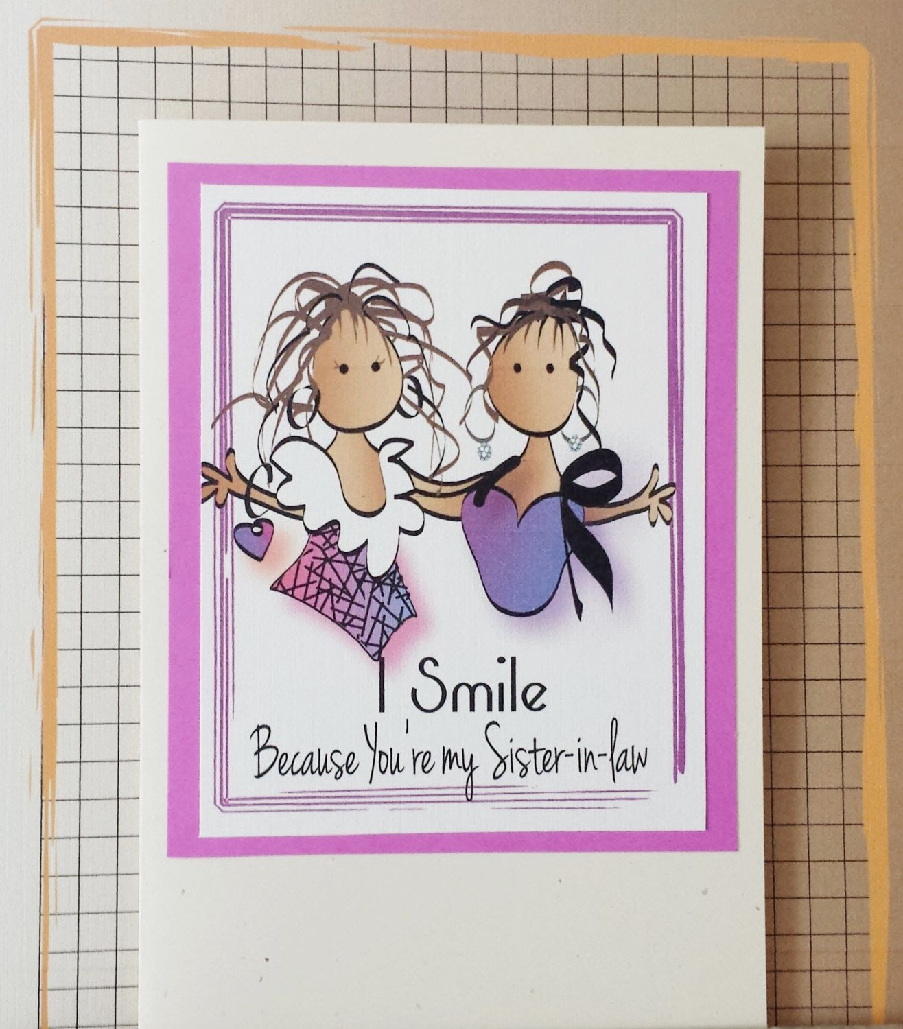 Funny Sister in Law Birthday Card Funny Sisterinlaw