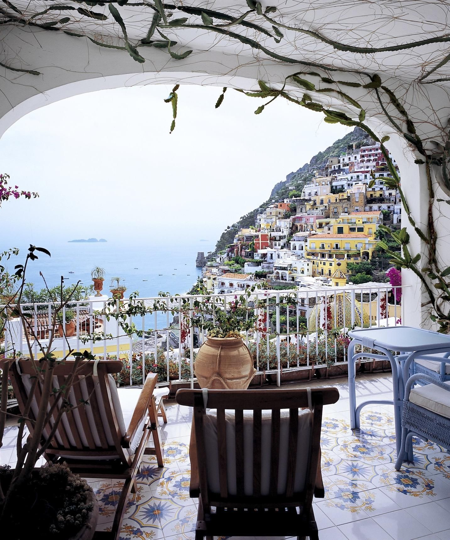 The. Beautiful Le Sirenuse, Positano, Italy.