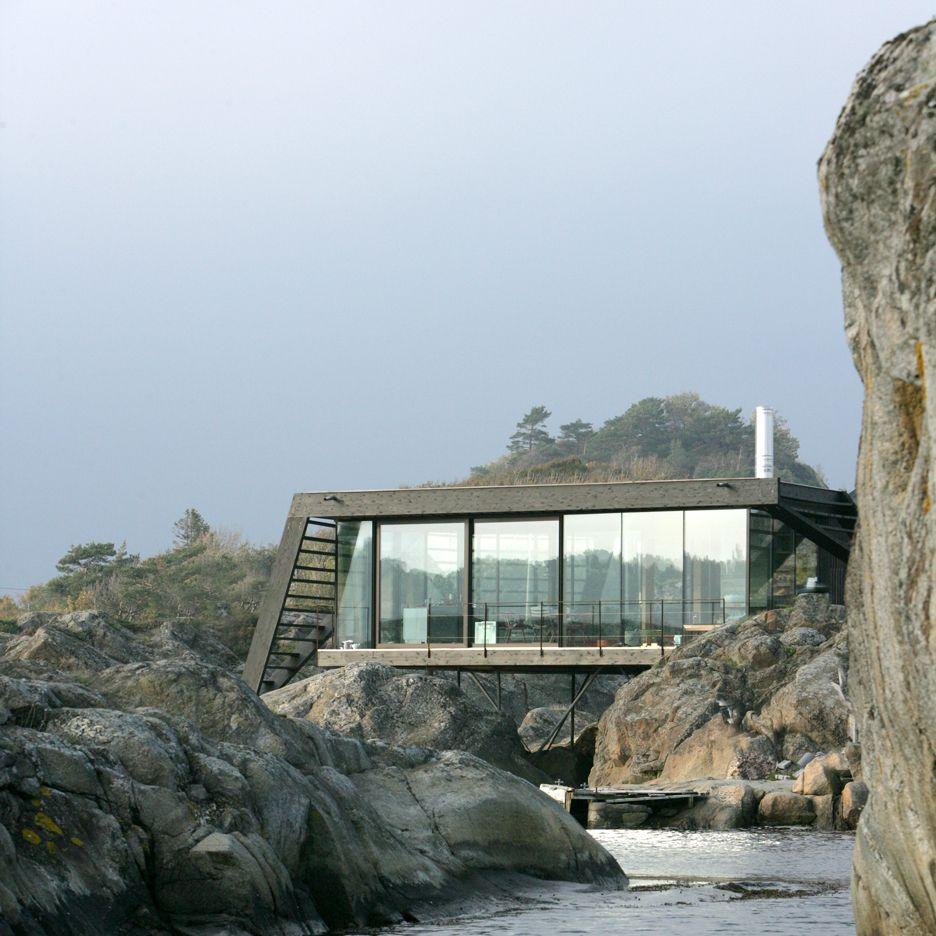 lund hagem completes stilted summer house on norwegian island rh pinterest com