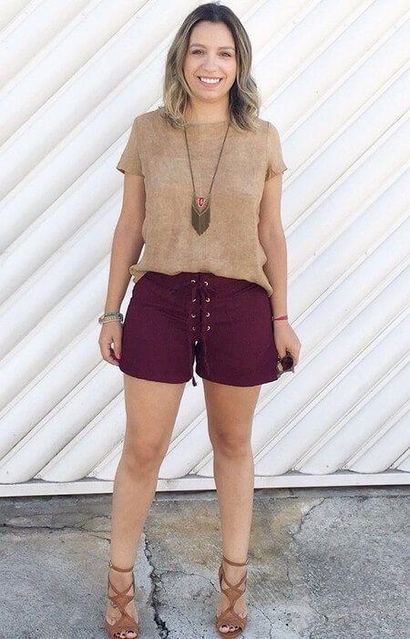 shorts suede vinho - moda verão 2017 feminina  roupas estilosas  moda  feminina  roupas modernas e155648d7c