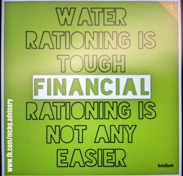 Don't be left financially dry. Prepare!