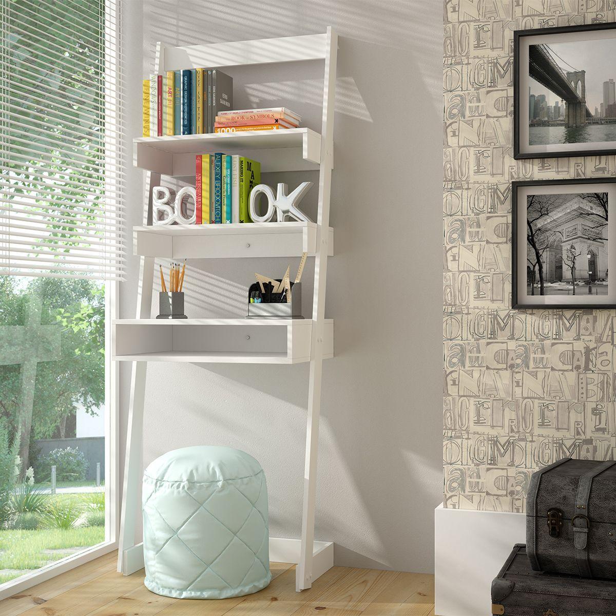Manhattan comfort carpina ladder desk in white pinterest