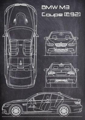 BMW M3 COUPE E92 CHALK | Displate thumbnail
