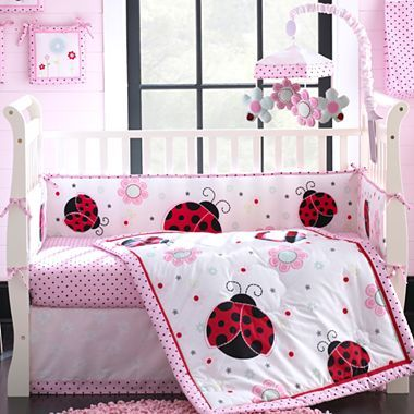 Pretty In Pink 5 Pc Baby Bedding Set Jcpenney Because Everything Babys R Us Was So Drab Baby Pink Bedding Ladybug Bedding Baby Bed