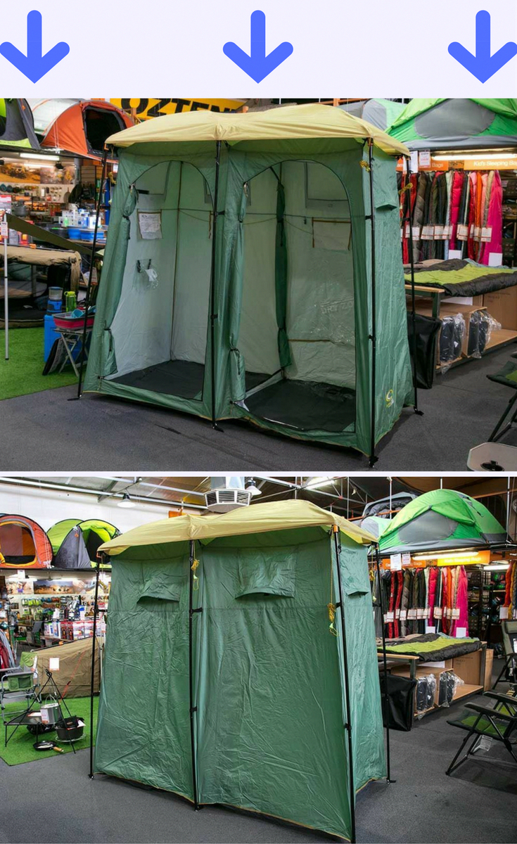 This Double Outhouse And Shower Tent Is A Must Have Camping