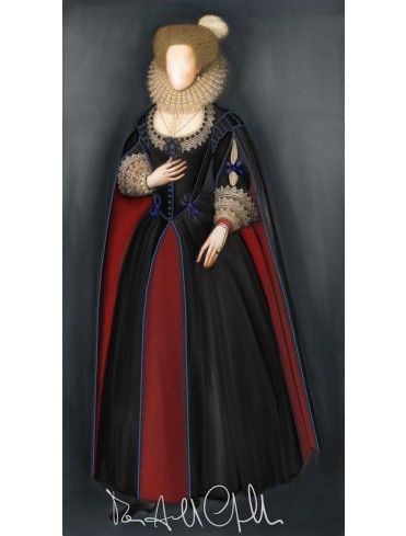 1610 Women's fashion - Seventeenth Century - Historical Patterns - Patterns