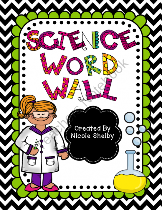 Science Vocabulary Word Wall Product From Mrs Shelbys 4th Grade On TeachersNotebook