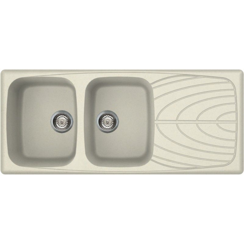 ELLECI KITCHEN SINK MASTER 500 2 BOWLS ANCIENT WHITE MADE IN ITALY ...