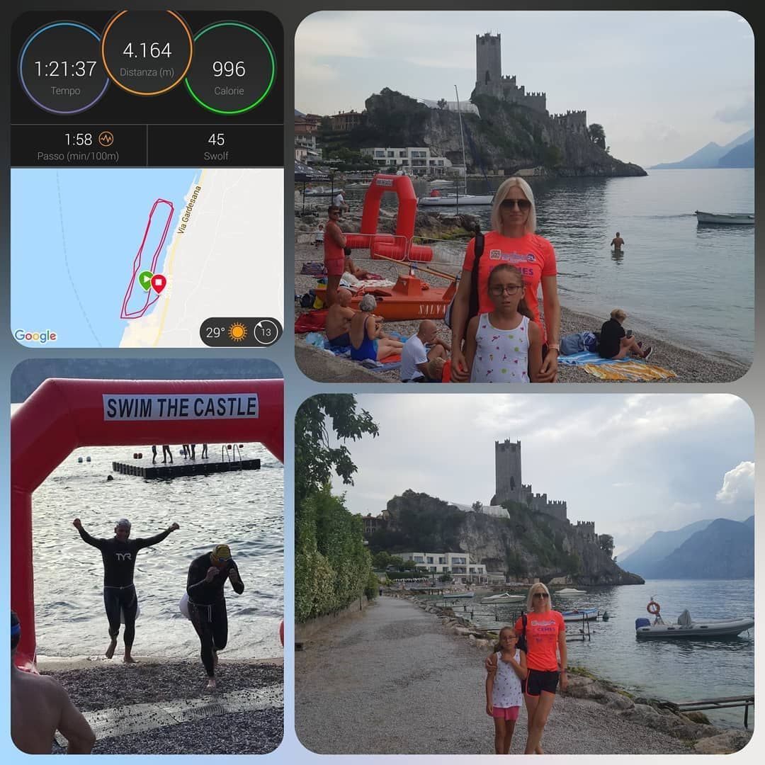Today I enjoy #swimming  4km at #swimthecastlemalcesine2019  The weather this year was good and ty h...