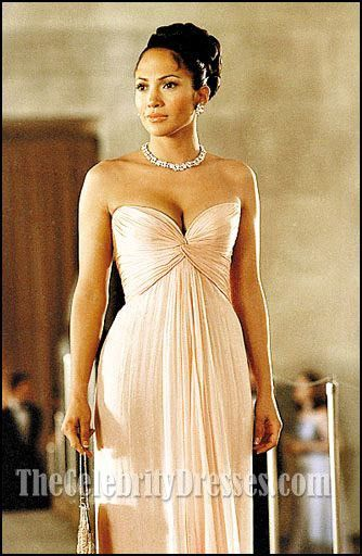 Jennifer Lopez Pink Evening Dress In