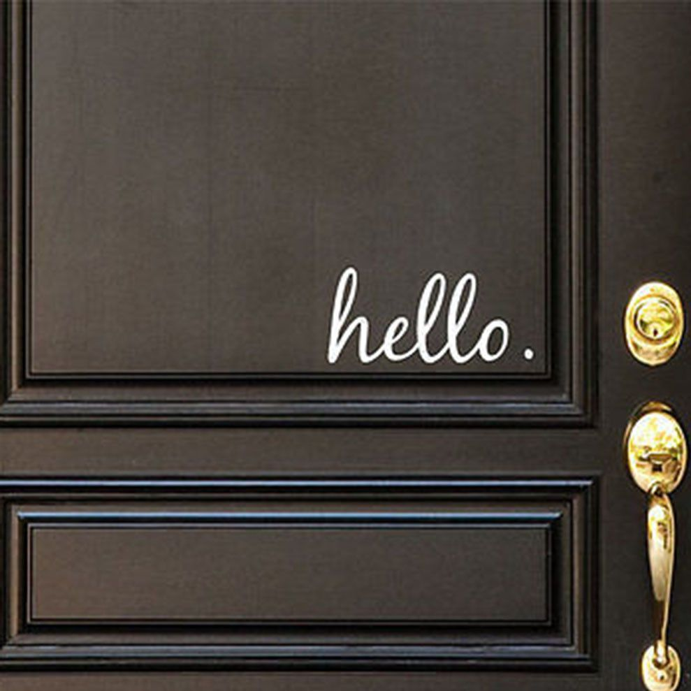 Hello Vinyl Door Decal Hello Front Door Decals Hello Home - Custom vinyl decals for metal