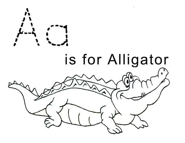 Letter A For Alligator Coloring Page Coloring Pages Lettering