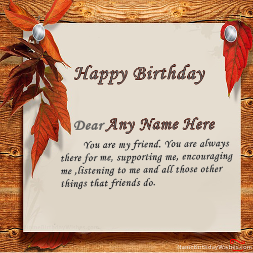 Birthday Card With Name.Write Name On Special Birthday Wishes Cards With Name This