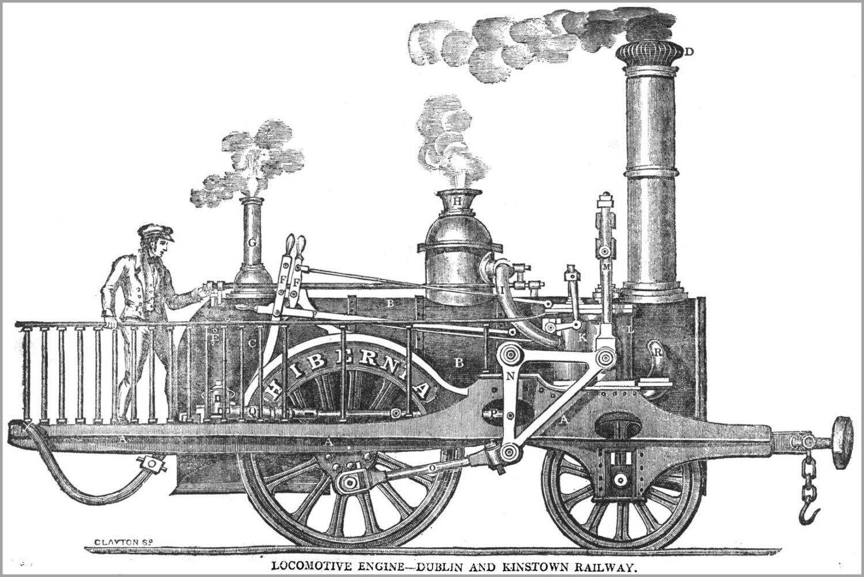 2 2 0 Steam Locomotive Hibernia First Train In