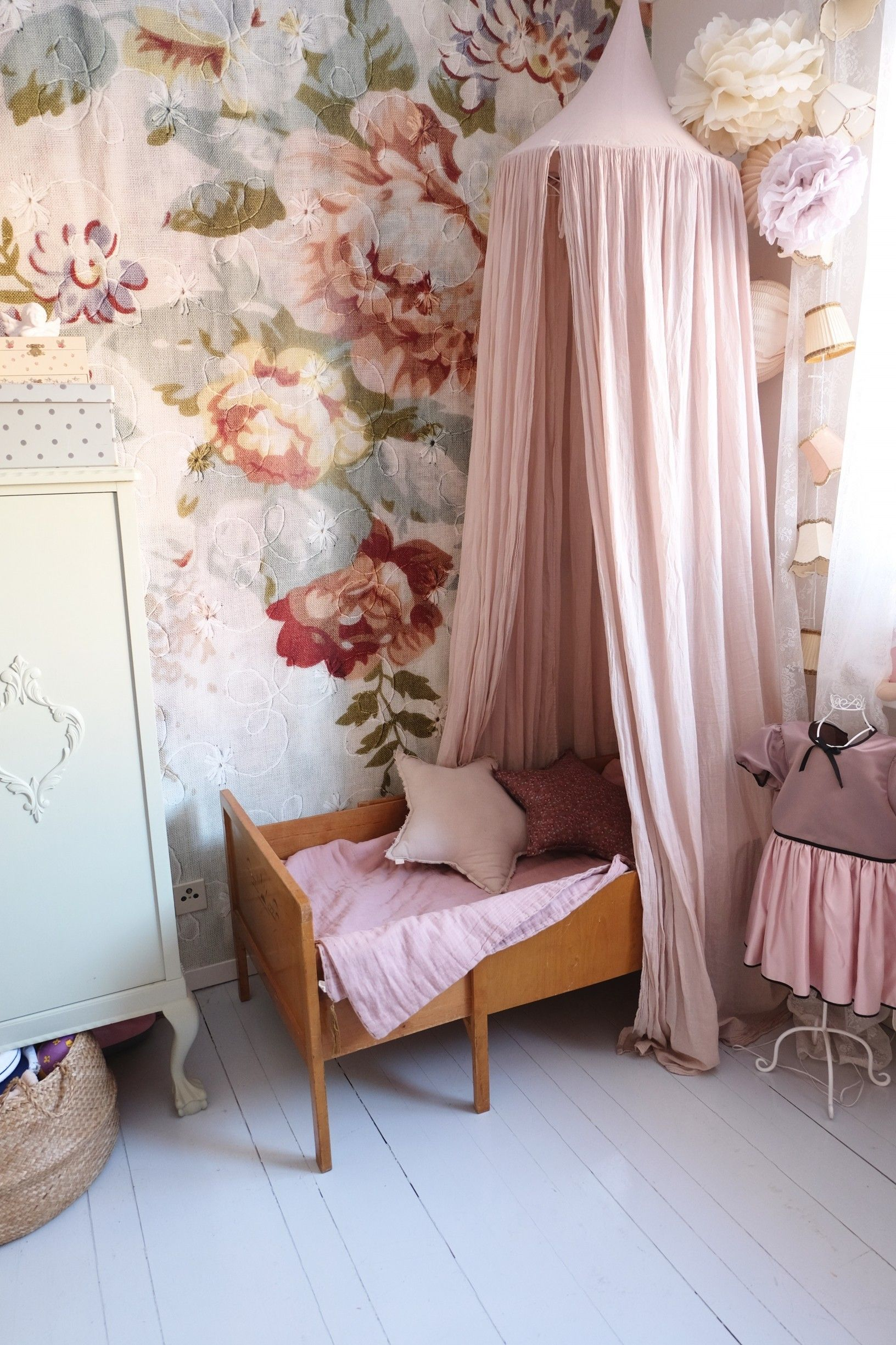 Blossom Wallpaper In This Pretty Girls Bedroom
