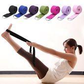 Women Yoga Stretch Strap Sport D-Ring Belt Fitness Exercise Gym Waist Rope 180CM - #180cm #belt #DRi...