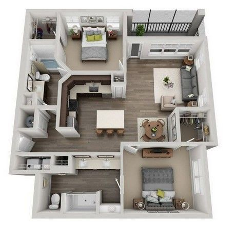 Pin On Dream Apartment Small house plan for rent