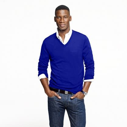 How to Layer Clothing For Men | Blue sweaters