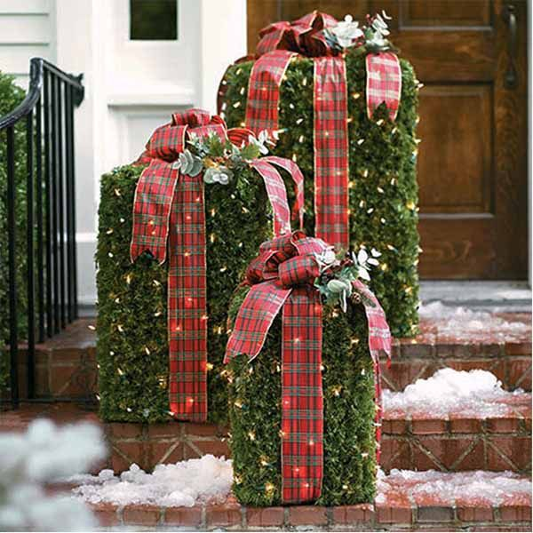 Decorare giardino a natale pacchi regalo natale pinterest regalo giardino e natale - Decorazioni natalizie esterne ...