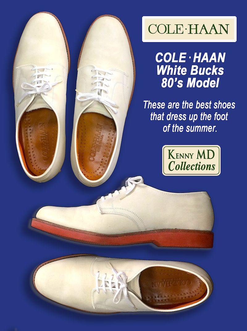 Cole Haan White Bucks 80's Model
