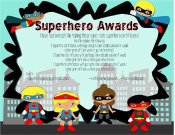 photo regarding Superhero Certificate Printable identify Superhero of the 7 days Certification **EDITABLE Printables