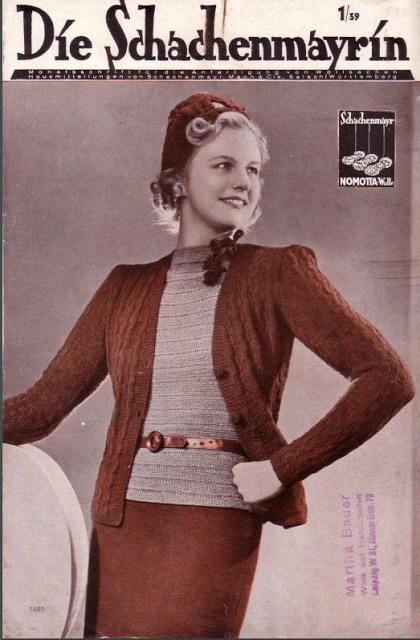 The Vintage Pattern Files: Free German 1930's Knitting Pattern Booklet - Die Schachenmayrin 1/39