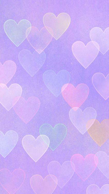 Purple Background With Light Purple Blue Orange Hearts Purple Wallpaper Iphone Light Purple Wallpaper Purple Wallpaper