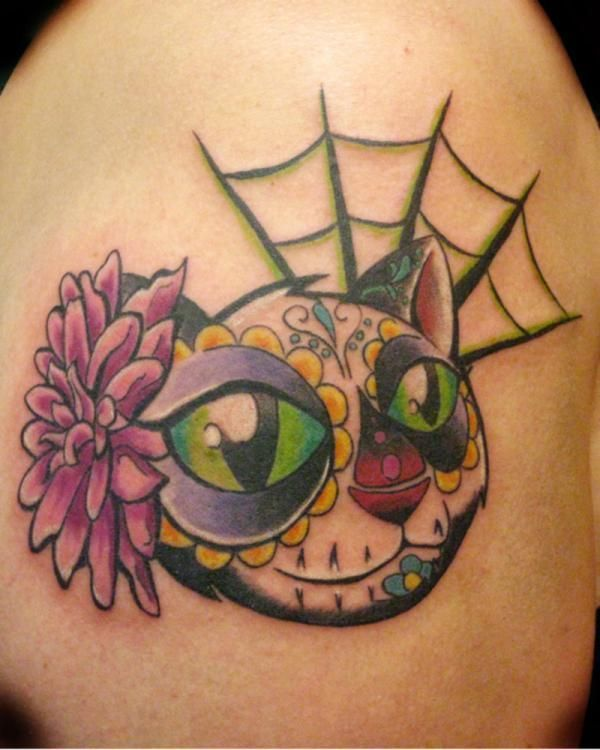 Day Of The Dead Cat Tattoos Pinterest Brain Escape