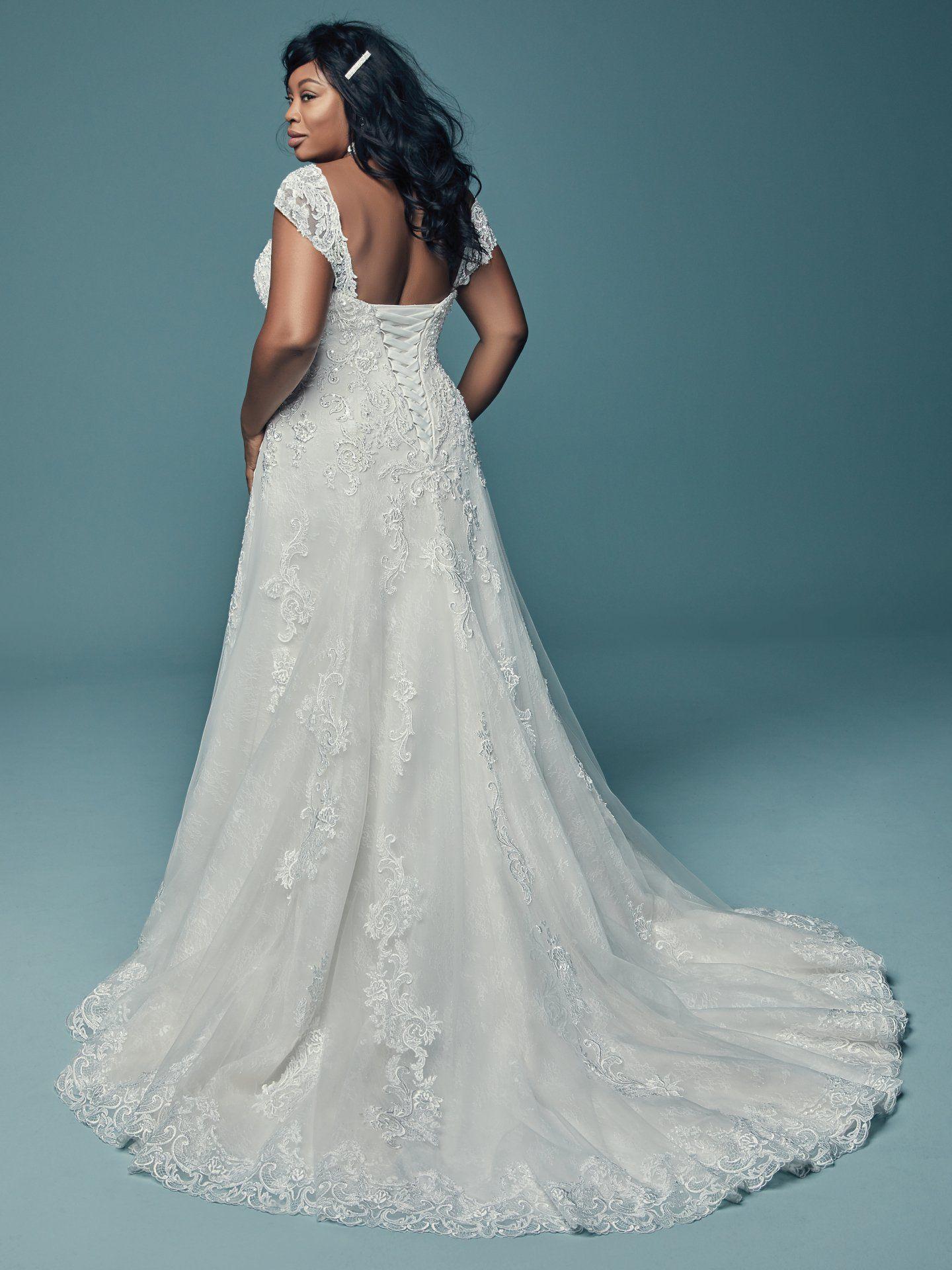 Plus size wedding dress designers  Plus size lace wedding dress with cap sleeves  Plus Size Wedding