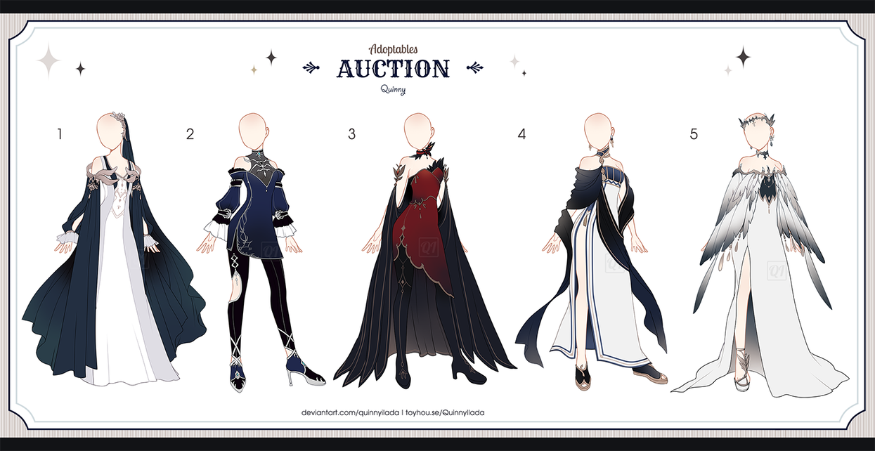 Adopt Auction Fantasy Outfits 38 Open By Quinnyilada In