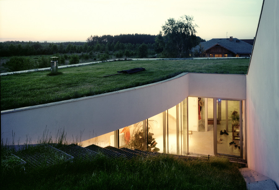 the green roof of the OUTrial House by Robert Konieczny