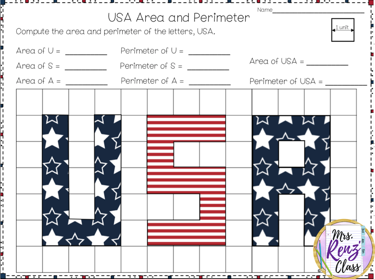 Area And Perimeter Worksheet Freebie