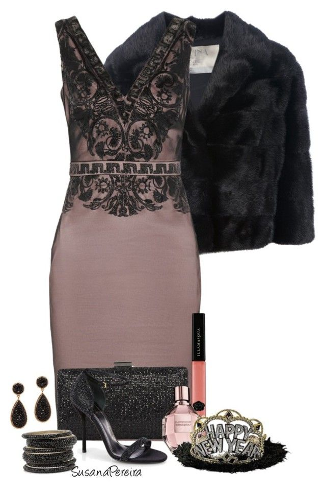"""New Year's Eve party!!"" by susanapereira ❤ liked on Polyvore featuring Mavina, Badgley Mischka, Gucci, Illamasqua, ALDO, women's clothing, women's fashion, women, female and woman"
