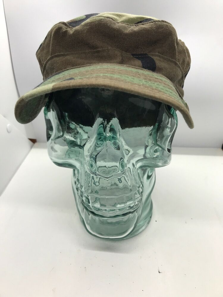 c6adaa6491f5f Vintage Military Camo Hat Headwear Army Fitted Cap Size 7 5 8 Camouflage