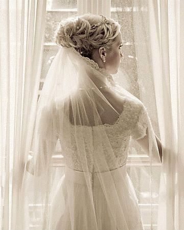 Classic Bridal Updo Hairstyle : Classic veil tip: place your veil in one of three places 1 low